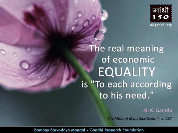 Mahatma Gandhi Quotes o Equality
