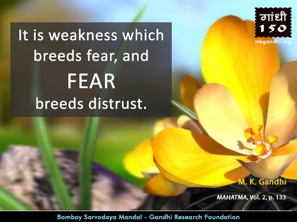 Mahatma Gandhi Quotes on Fear