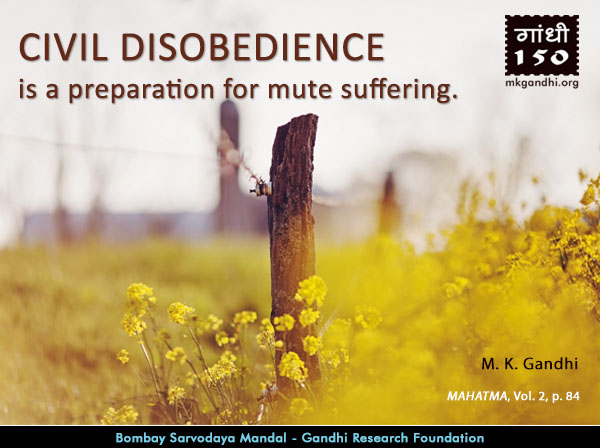 Mahatma Gandhi Quotes on Civil Disobedience