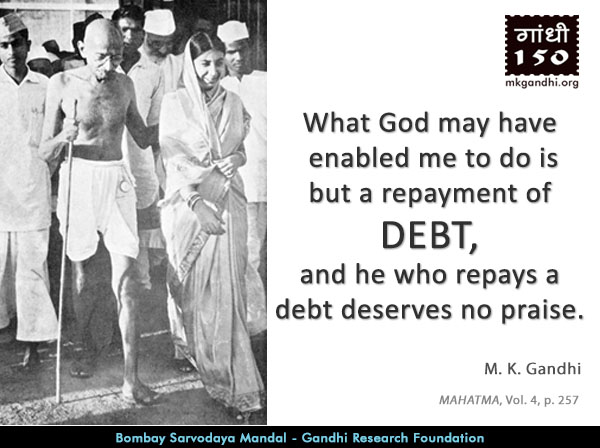 Mahatma Gandhi Quotes on Debt