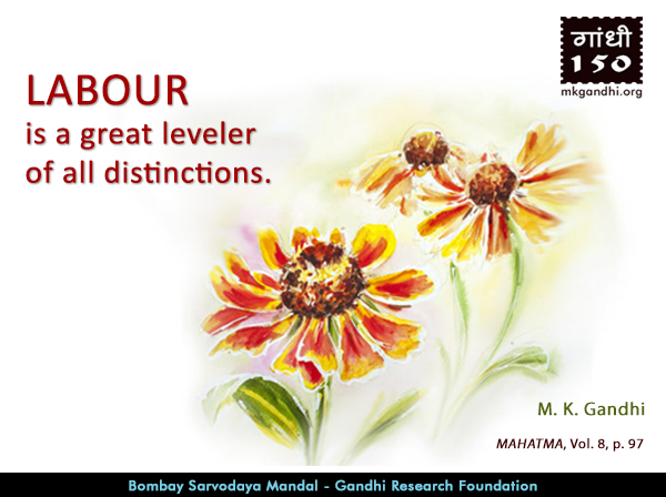 Mahatma Gandhi Quotes on Labour