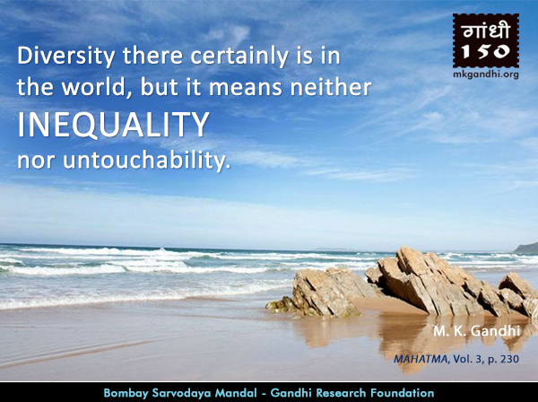 Mahatma Gandhi Quotes on Inequality