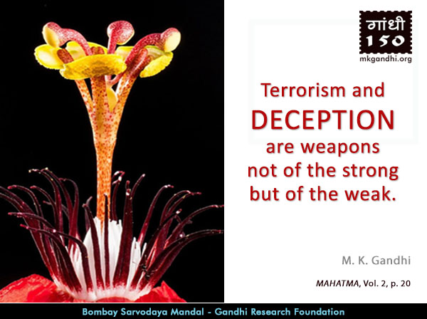 Mahatma Gandhi Quotes on Deception