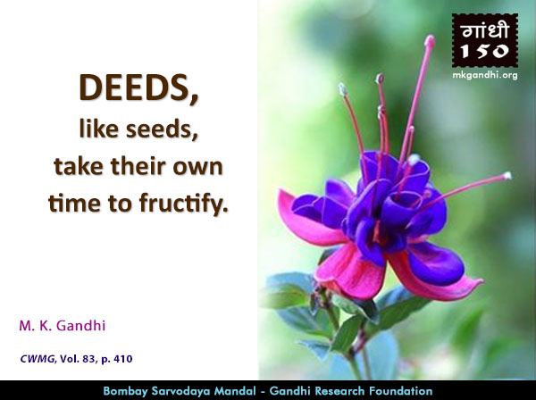 Mahatma Gandhi Quotes on Deeds