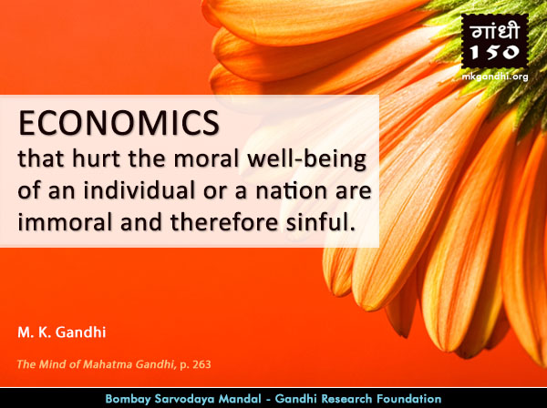 Mahatma Gandhi Quotes on Economics