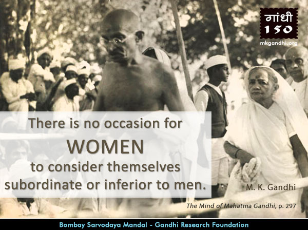 Mahatma Gandhi Quotes on Women