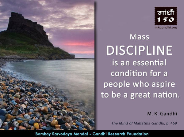Mahatma Gandhi Quotes on Discipline