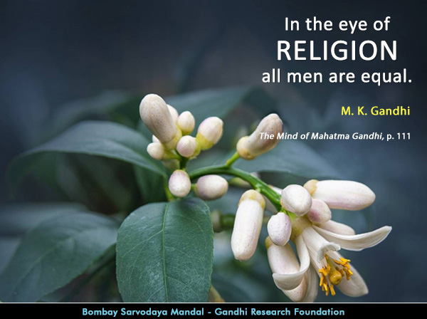 Mahatma Gandhi Quotes on Religion