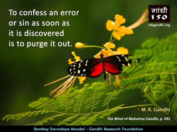 Mahatma Gandhi Quotes on Confess