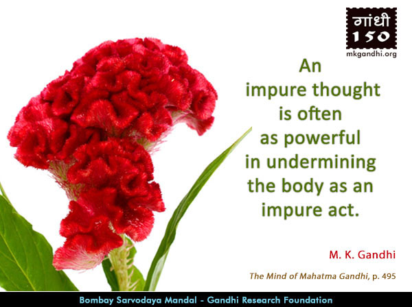 Mahatma Gandhi Quotes on Impure Thought