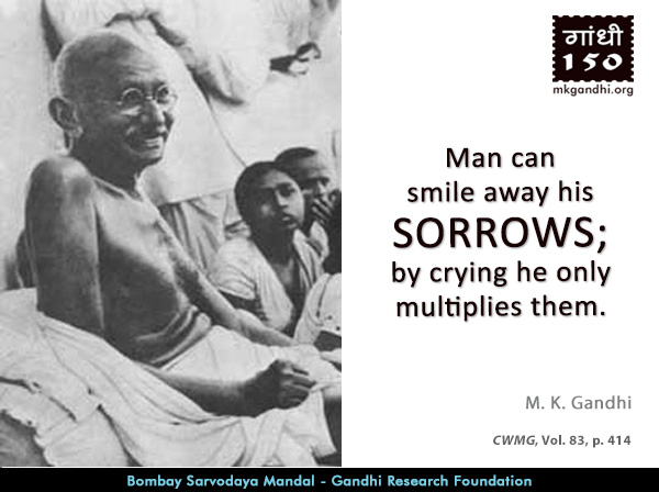 Mahatma Gandhi Quotes on Sorrow