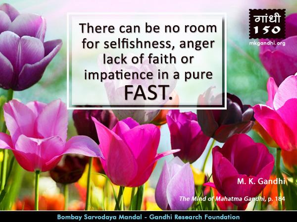 Mahatma Gandhi Quotes on Fast
