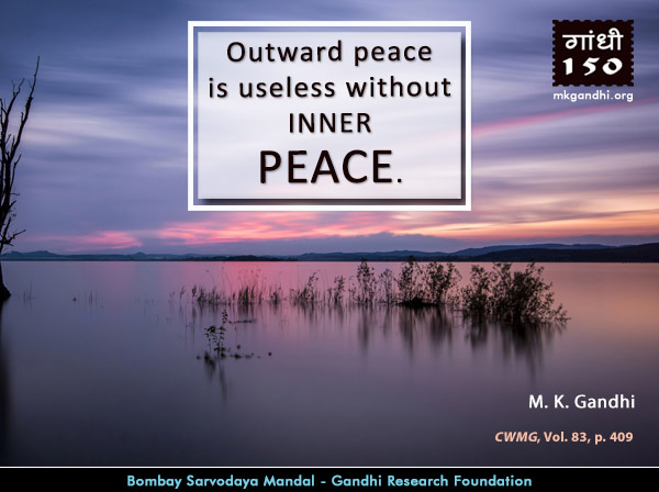 Mahatma Gandhi Quotes on Peace