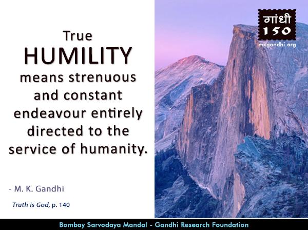 Mahatma Gandhi Quotes on Humility