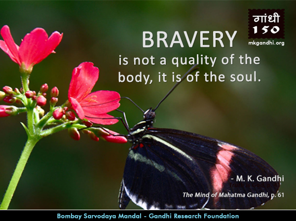 Mahatma Gandhi Quotes on Bravery