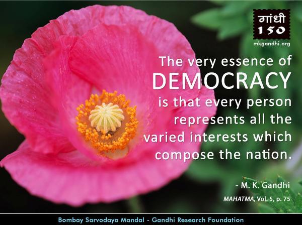 Mahatma Gandhi Quotes on Democracy