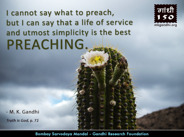 Mahatma Gandhi Quotes on Preaching
