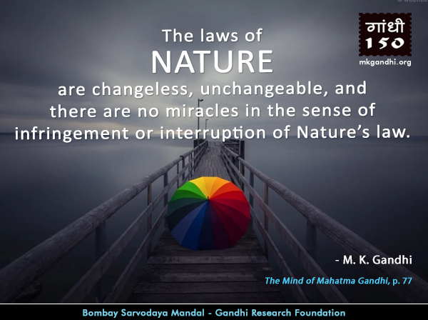 Mahatma Gandhi Quotes on Nature