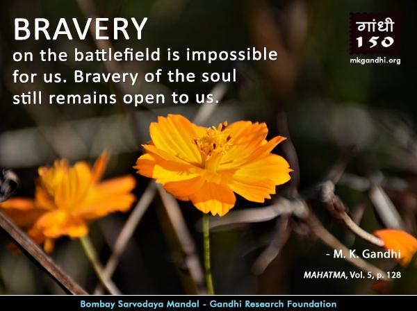 Mahatma Gandhi Quotes on Bravery
