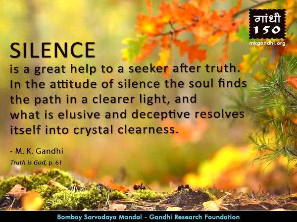 Mahatma Gandhi Quotes on Silence