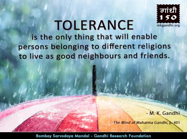 Mahatma Gandhi Quotes on Tolerance