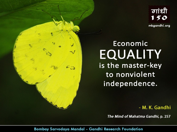 Mahatma Gandhi Quotes on Equality