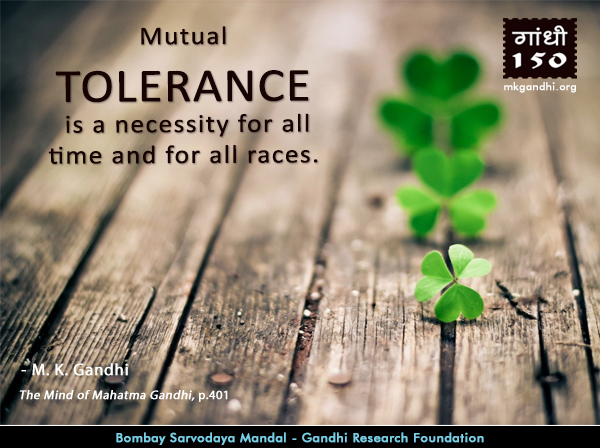 Mahatma Gandhi Quotes on Tolerance