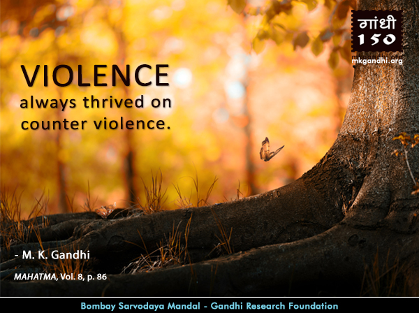 Mahatma Gandhi Quotes on Violence