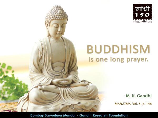 Mahatma Gandhi Quotes on Buddhism