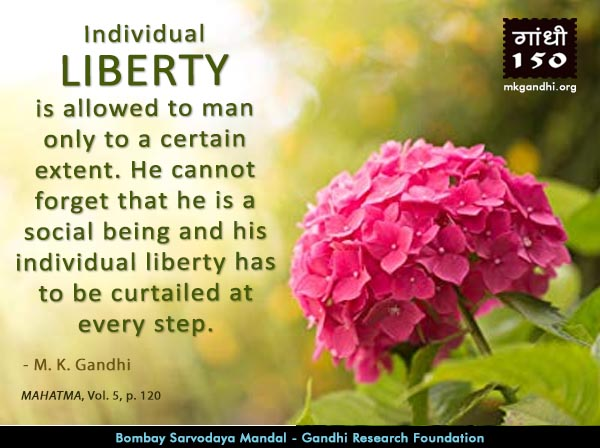Mahatma Gandhi Quotes on Liberty