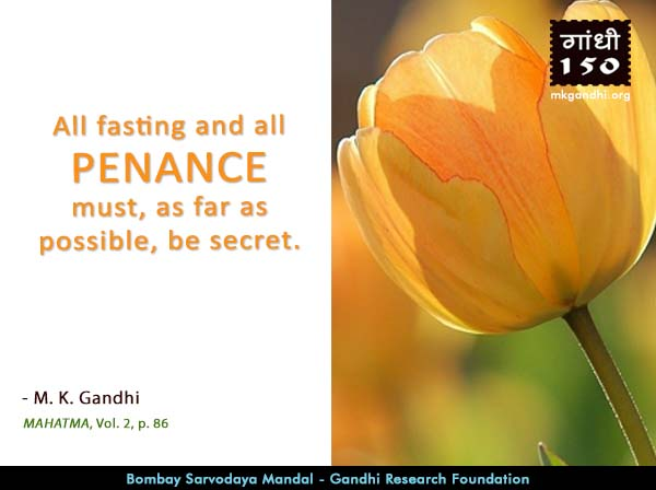 Mahatma Gandhi Quotes on Penance