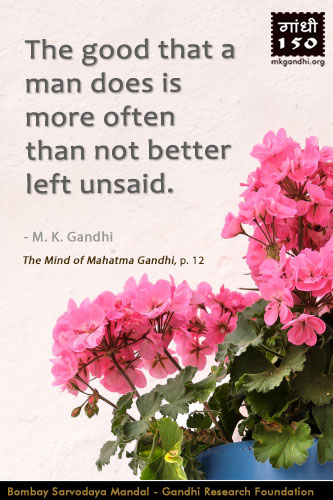 Mahatma Gandhi Quotes on Good