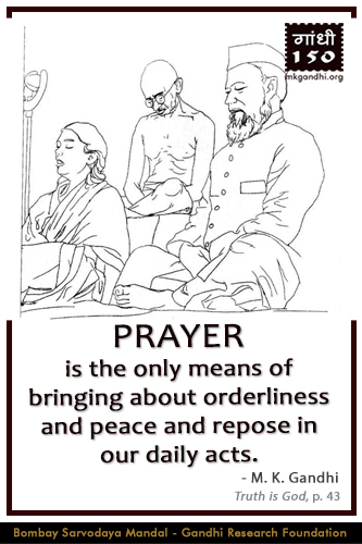 Mahatma Gandhi Quotes on Prayer