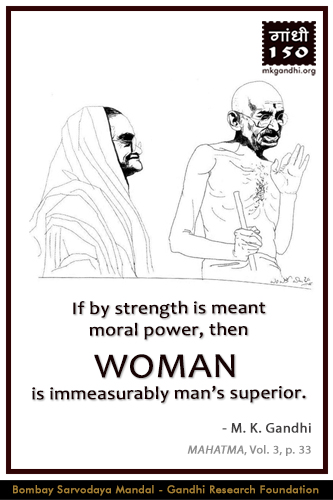 Mahatma Gandhi Quotes on Woman