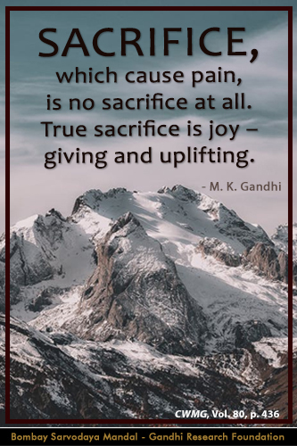 Mahatma Gandhi Quotes on Sacrifice