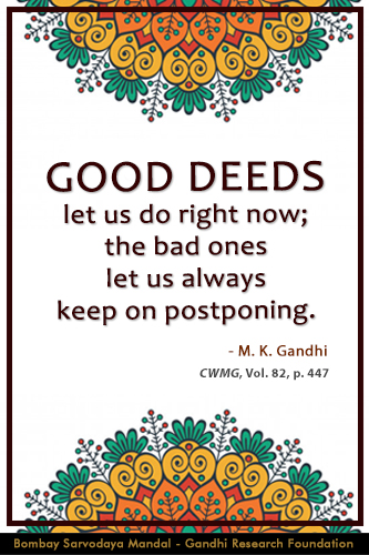 Mahatma Gandhi Quotes on Good Deeds