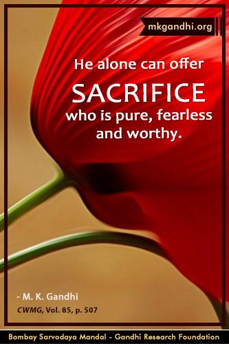 Mahatma Gandhi Quotes on Sacrifice