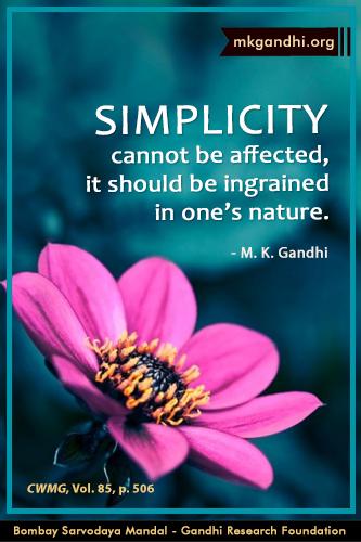 Mahatma Gandhi Quotes on Simplicity
