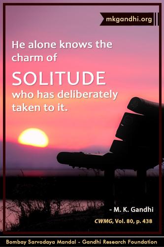 Mahatma Gandhi Quotes on Solitude