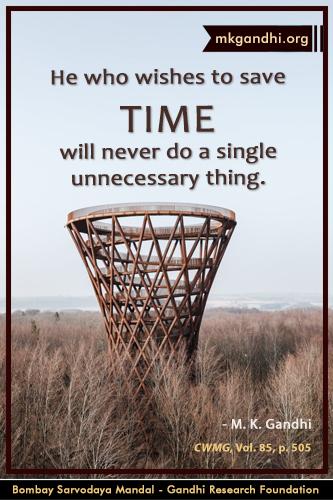 Mahatma Gandhi Quotes on Time