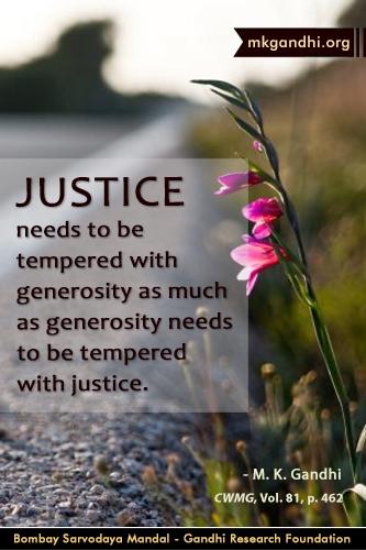 Mahatma Gandhi Quotes on Justice