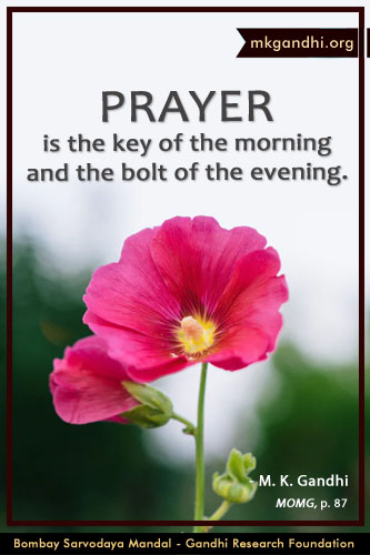 Mahatma Gandhi Quotes on Prayer