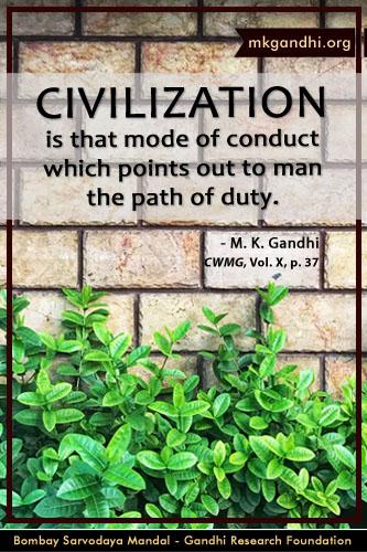 Mahatma Gandhi Quotes on Civilization
