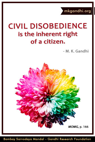 Mahatma Gandhi Quotes on Civil Disobedience