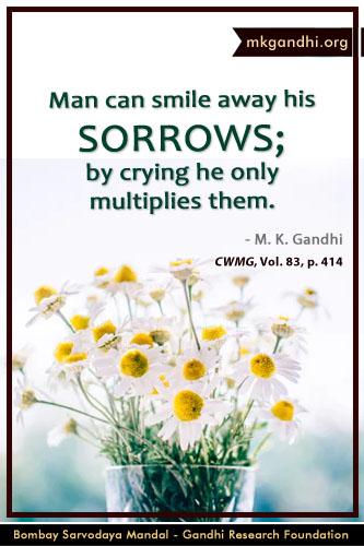 Mahatma Gandhi Quotes on Sorrows