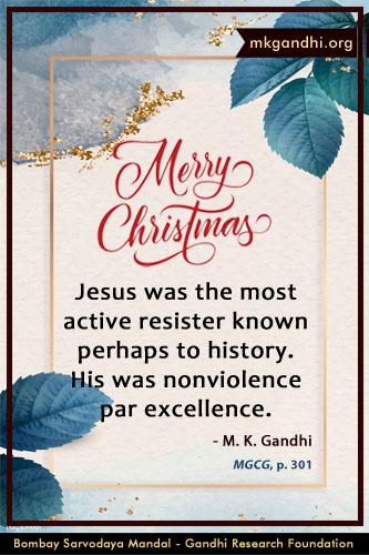 Mahatma Gandhi Quotes on Jesus