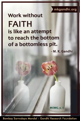 Mahatma Gandhi Quotes on Faith