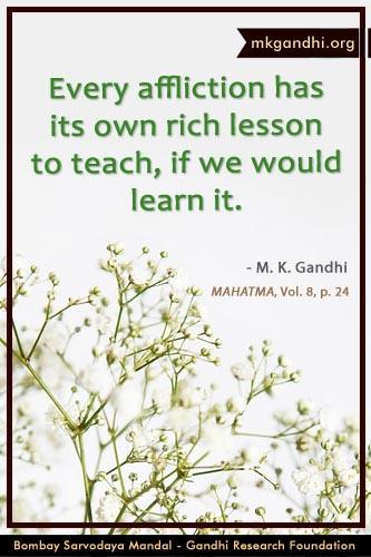 Mahatma Gandhi Quotes on Affliction
