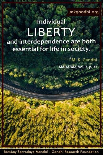 Mahatma Gandhi Quotes on LIberty