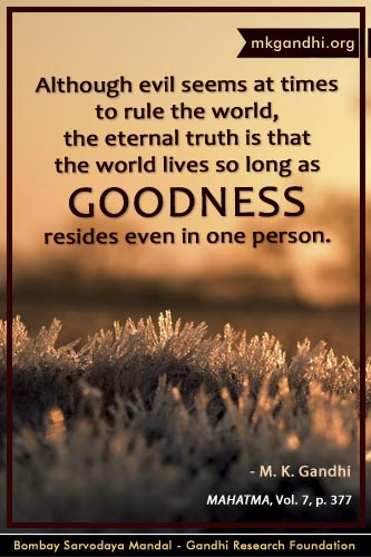 Mahatma Gandhi Quotes on Goodness